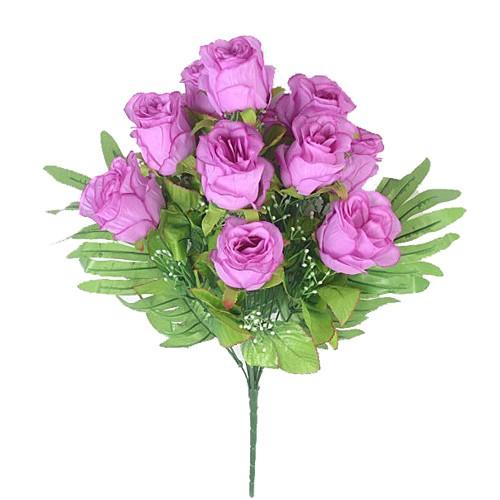 Букет бутонов роз ХЕЙДОК 12 голов – сиреневый - Фото 1 | Компания «Венок»