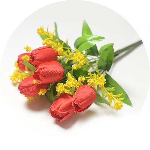 Букет тюльпанов Хундон – красный - Фото 1 | Компания «Венок»
