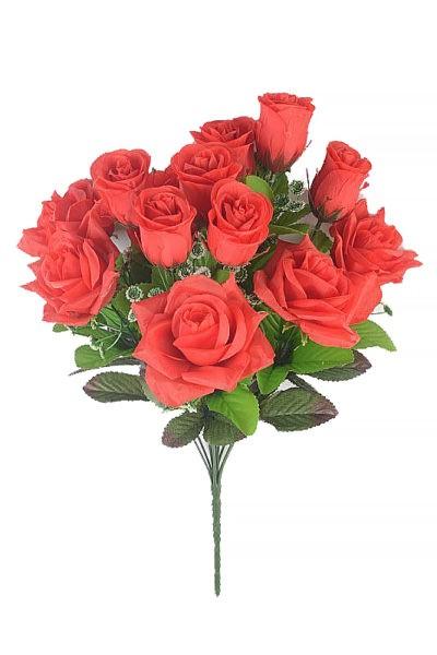 Букет розы с бутонами КОНТИН 13 голов – красный - Фото 1 | Компания «Венок»