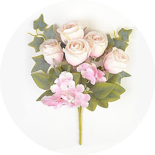 Букет роз с гортензией Эбберли – розовый - Фото 1   Компания «Венок»
