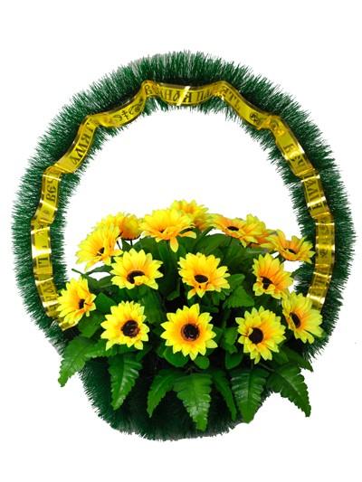 Ритуальная корзина Солнечный круг - Фото 2   Компания «Венок»