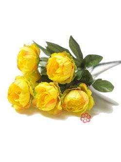 Букет пионов на могилу Хиклинг желтый
