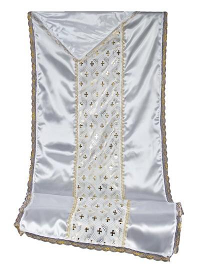 Комплект в гроб  КРЕСТ (золото/ серебро) - Фото 1 | Компания «Венок»