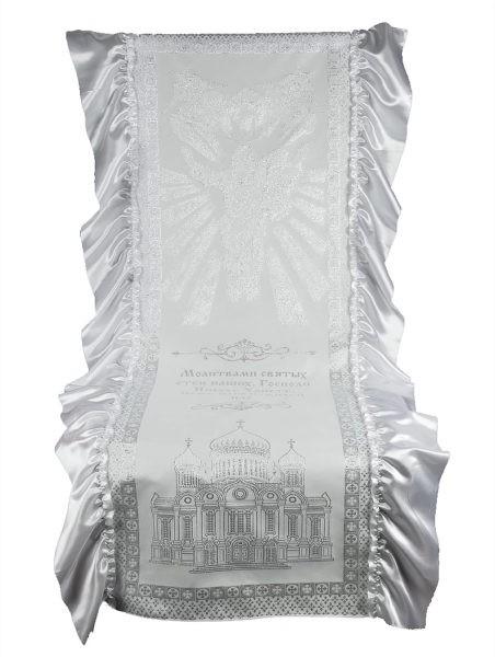 Комплект в гроб ВОЗНЕСЕНИЕ серебро - Фото 1 | Компания «Венок»