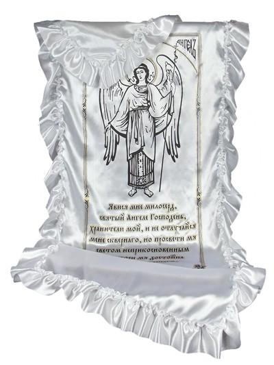 Комплект в гроб АНГЕЛ атлас-глиттер - Фото 1   Компания «Венок»