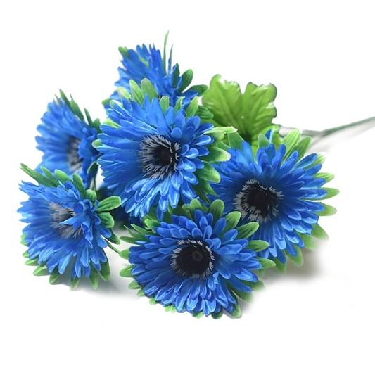 ХЕЛ Букет герберы 7 голов (синий ) - Фото 1 | Компания «Венок»