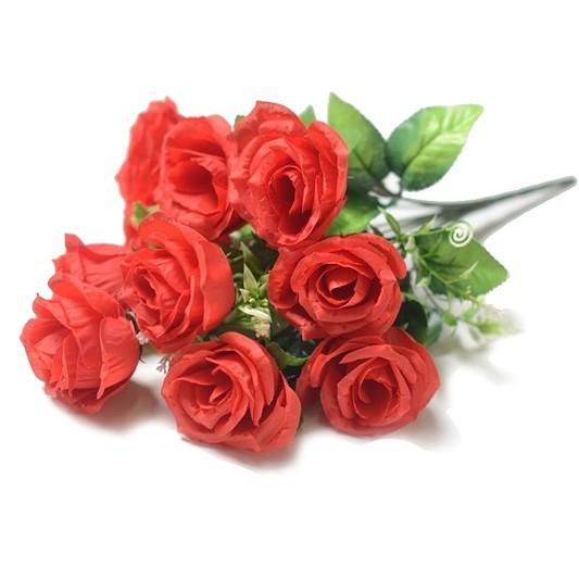 ЛАУРГХАН Букет розы 10 голов ( красный) - Фото 1 | Компания «Венок»