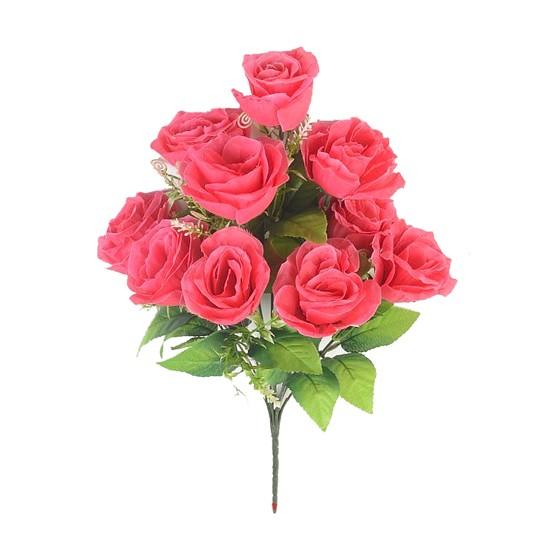ЛАУРГХАН Букет розы 10 голов ( малиновый) - Фото 1   Компания «Венок»