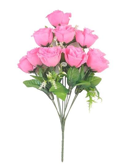 ЛАУРГХАН Букет розы 10 голов ( розовый) - Фото 1   Компания «Венок»