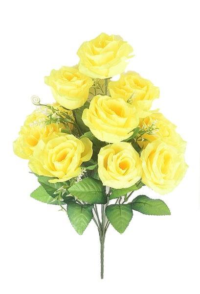 ЛАУРГХАН Букет розы 10 голов ( желтый) - Фото 1   Компания «Венок»